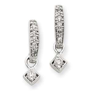 14k Gold White Gold Vintage Diamond Earrings Jewelry