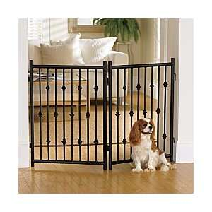 Wrought Iron Pet Gate Panel   Mocha   Improvements Pet