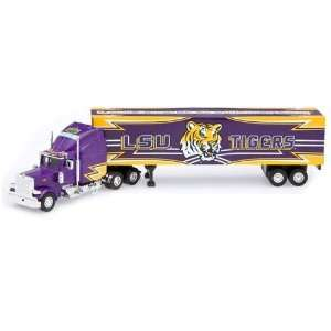 LSU Tigers Die Cast Collectible Tractor Trailer Sports