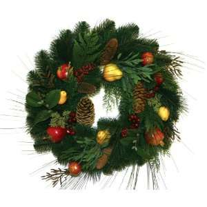 Artificial Christmas Wreath with Fruit and Pine Cones