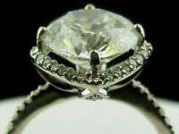 4CT Round Diamond Engagement 18K Gold Ring EGL Cert