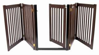 Wood Walk thru door DOG GATE expand to 9 ft extra long fence zig zag