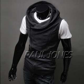 Unique Designed~ PJ Mens Korea Slim Fit Jackets Coat Hoody Vest