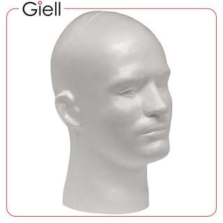 Giell Styrofoam Foam Mannequin Wig Head Display Male