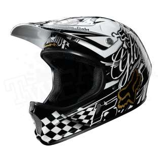 NEW Fox Racing Rampage DH MTB Full Face Bicycle Helmet   Black / White