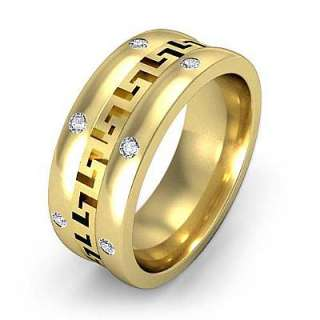 25c Diamond Man Men Bezel Wedding Band Y14k Gold s10