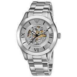 Emporio Armani Mens Meccanico Skeleton Dial Watch