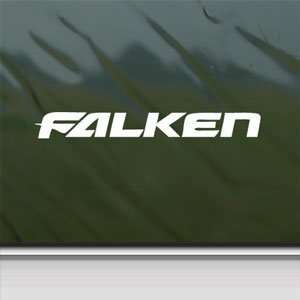 Falken Tires White Sticker Car Laptop Vinyl Window White