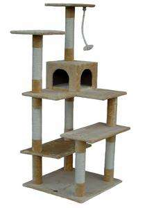 Cat Tree House Toy Bed Scratcher Post Furniture F55