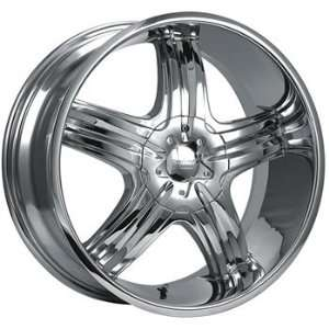 Cruiser Alloy Impulse 16x7.5 Chrome Wheel / Rim 5x100 & 5x4.5 with a