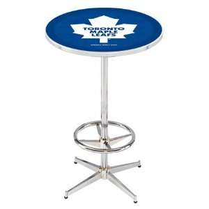 36 Toronto Maple Leafs Counter Height Pub Table   Chrome
