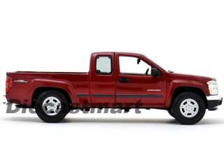 18 2004 GMC CANYON NEW DIECAST MODEL PICK UP TRUCK METALLIC BURGUNDY