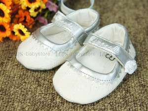 A229 new baby toddler girl white dress shoes size 1 2 3
