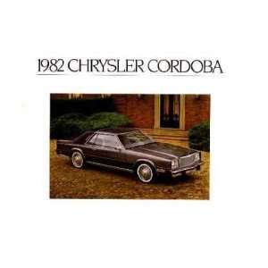 1982 CHRYSLER CORDOBA Sales Brochure Literature Book