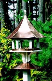 Lazy Hill Copper Carousel Bird Feeder + 4 Mounting Brackets