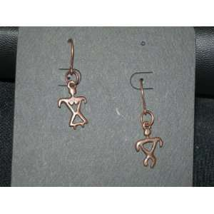 Copper Native American Man & Woman Earrings Arts, Crafts & Sewing