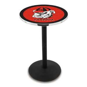 42 University of Georgia Dog Bar Height Pub Table   Round