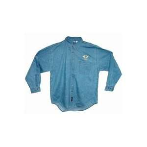 Mens Long Sleeve Button Denim L Blue. Electronics