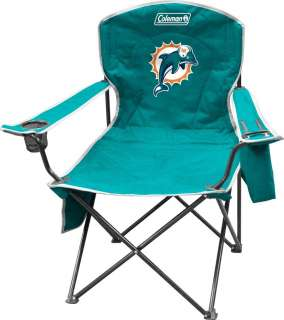 Miami Dolphins XL Big Boy Folding Cooler Chair Coleman Tailgate Seat
