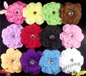 wholesale Peony Girl Toddler Baby Flower Hair Clip Bow Headband Hat
