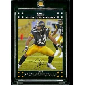 Topps Football # 247 Troy Polamalu   Pittsburgh Steelers   NFL Trading