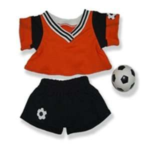 and Black Soccer Outfit Teddy Bear Clothes Fit 14   18 Build a bear