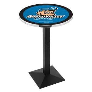 42 Grand Valley State Bar Height Pub Table   Square Base