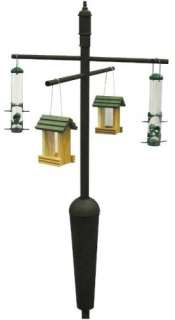 Squirrel Proof Bird Feeder Pole System Holds 4 Feeders