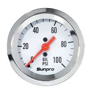 Sunpro CP8206 StyleLine Mechanical Oil Pressure Gauge