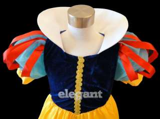 Snow White Girls Princess Costume Dress Gown Age 1 9