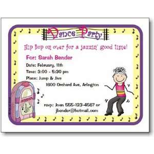 Pen At Hand Stick Figures   Invitations   Dance (Inv 1064
