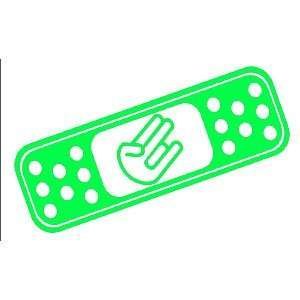 BAND AID SHOCKER CUSTOM   8 LIME GREEN   Vinyl Decal WINDOW Sticker