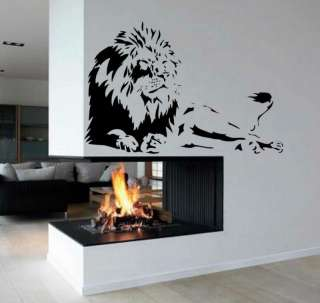 Lion Africa Zoo Animal Wall Decor Vinyl Decal Sticker 2