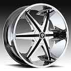 22 x9.5 Dub Big Homie W/O Rvt Chrome 5 Lug Wheel Rims