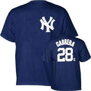 Melky Cabrera New York Yankees Navy Jersey Name & Number T Shirt