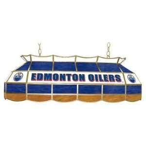 NHL Edmonton Oilers 40 Stained Glass Lighting Fixture