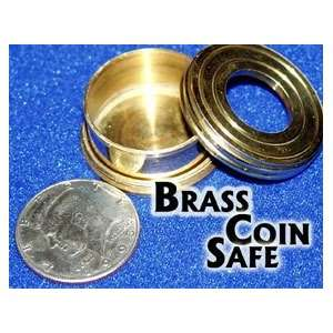 Brass Coin Safe   Money Magic Trick Toys & Games