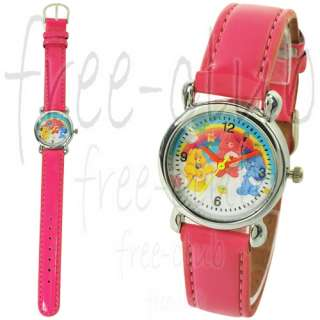 Care Bear Grumpy & Love A Lot & Funshine Bear Fuchsia Leather Wrist