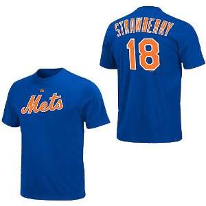 New York Mets Darryl Strawberry Cooperstown Name & Number T Shirt