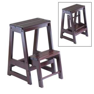 Winsome Wood 94022 Folding Step Stool, Antique
