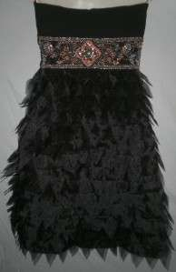 Sue Wong BLACK COCKTAIL EVENING DRESS 2 NWT $358 Beaded
