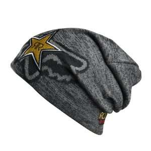 Fox Racing   Rockstar Beanie   Black Rockstar Yellow  Sport