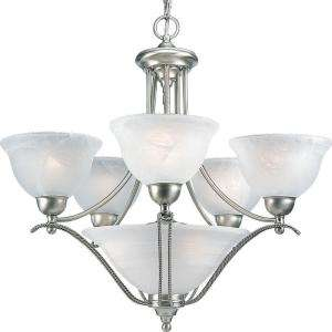 Progress Lighting Avalon CollectionBrushed Nickel 5+3 light Chandelier