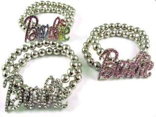 NICKI MINAJ BARBIE Bracelet Ball Chain Silver Stretch