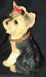 PRECIOUS LARGE SIZED YORKIE (YORKSHIRE TERRIER) FIGURE