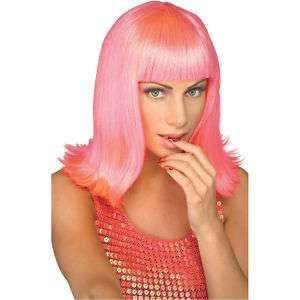 50940 Passion Pink Wig Long Flip GaGa Pop Star Costume