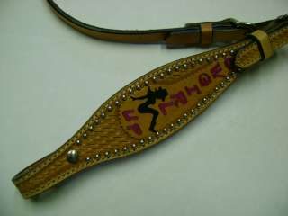 COW GIRL UP MAD COW BRAND CUSTOM LEATHER WESTERN SHOW BRIDLE HEADSTALL