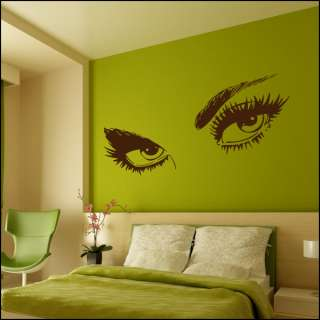 VINYL WALL ART GIANT SEXY EYES MURAL STICKER
