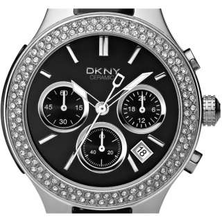 Ladies DKNY Chrono Black Ceramic Bracelet Watch NY4983