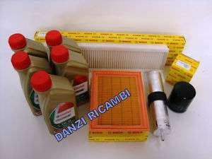 KIT FILTRI TAGLIANDO BOSCH BMW MINI ONE D + CASTROL 5lt